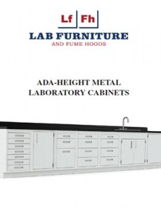ADA Height Metal Lab Cabinets