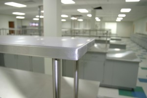 laboratory furniture and fume hoods