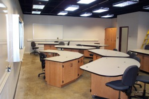 wooden lab cabinets