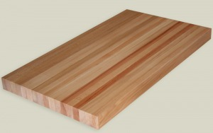 Butcher block laboratory countertops