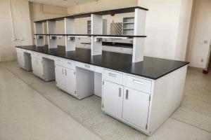 Modular Steel Laboratory Furniture desk and shelf