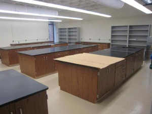 wood casework lab furniture