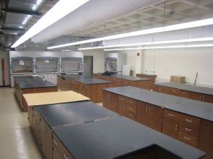 wood casework for lab design