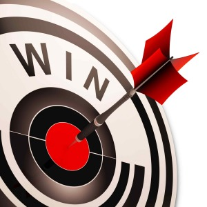 Win Target Shows Successes And Victory